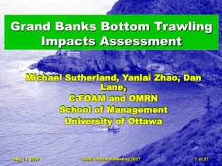 Grand Banks Bottom Trawling Impacts Assessment