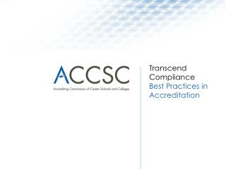Transcend Compliance Best Practices in Accreditation