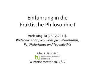 Einf hrung in die Praktische Philosophie I
