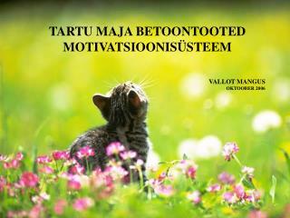 TARTU MAJA BETOONTOOTED MOTIVATSIOONIS STEEM    VALLOT MANGUS  OKTOOBER 2006