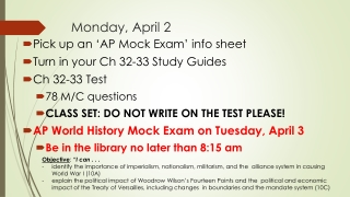 World History Final Exam Study Guide Part II  Answers