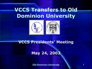 VCCS Transfers to Old Dominion University