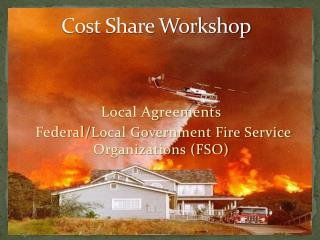 Cost Share Workshop