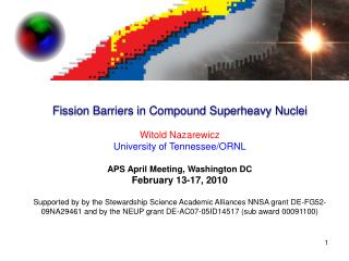 Fission Barriers in Compound Superheavy Nuclei  Witold Nazarewicz University of Tennessee
