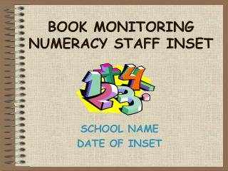 BOOK MONITORING NUMERACY STAFF INSET