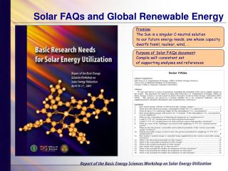 Solar FAQs and Global Renewable Energy