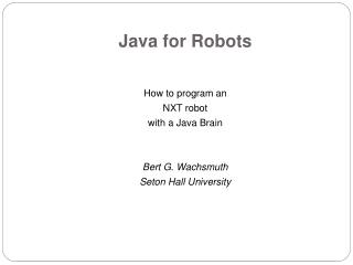 Java for Robots