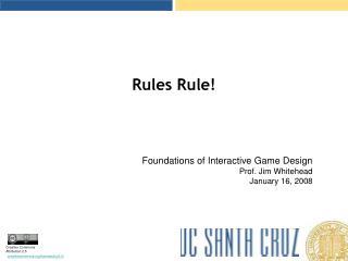 Rules Rule