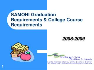 SAMOHI Graduation Requirements  College Course Requirements