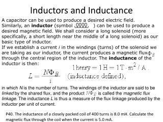 Inductors and Inductance