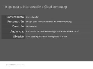 10 tips para tu incorporaci n a Cloud computing