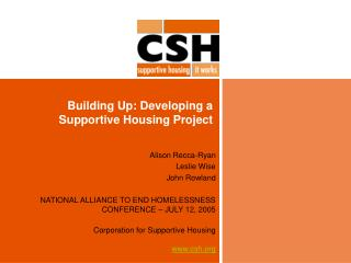 Building Up: Developing a Supportive Housing Project