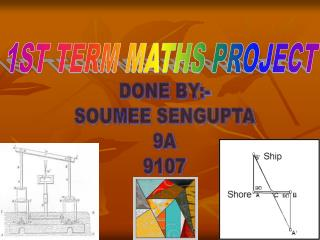 1ST TERM MATHS PROJECT