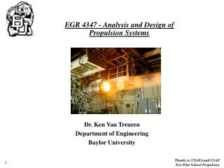 EGR 4347 - Analysis and Design of  Propulsion Systems