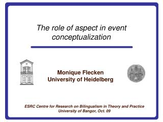 The role of aspect in event conceptualization