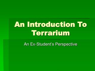 An Introduction To Terrarium