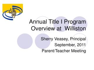 Annual Title I Program Overview at  Williston