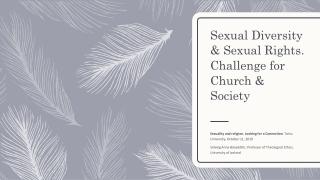 Ethics, Religion  Sexuality