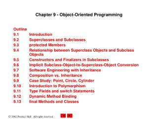 Chapter 9 - Object-Oriented Programming
