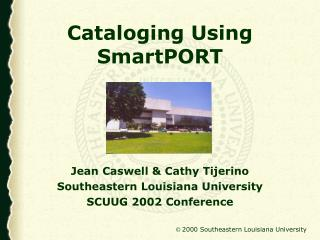 Cataloging Using SmartPORT