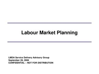 Labour Market Planning