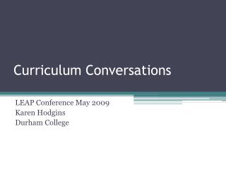 Curriculum Conversations