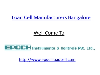 Load cell Manufacturers in Bangalore