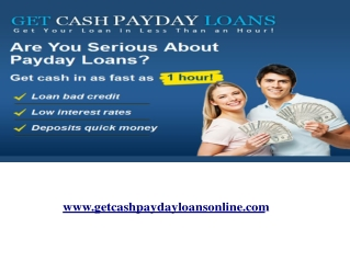 Take a payday loan begins from $150 and it requires no credi