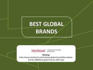 BEST GLOBAL BRANDS