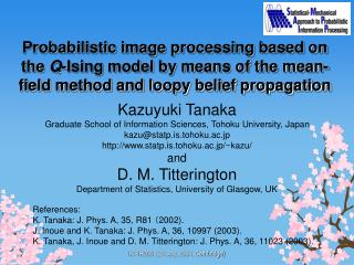 Probabilistic image processing based on the Q-Ising model by means of the mean-field method and loopy belief propagation