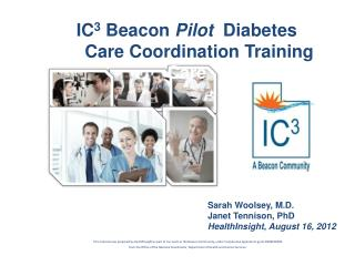 IC3 Beacon Pilot  Diabetes      Care Coordination Training Care