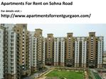 Apartments For Rent on Sohna Road