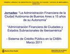 - Sistema de Cr dito P blico en la CABA- Marzo 2011