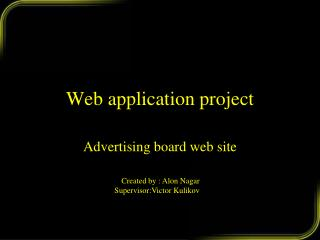 Web application project