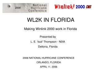 WL2K IN FLORIDA
