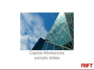 Capital Allowances sample slides