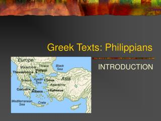 Greek Texts: Philippians