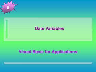 Date Variables