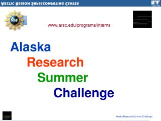 Alaska Research Summer Challenge