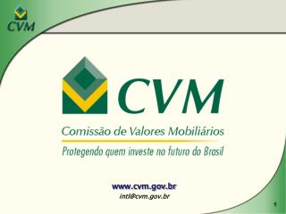 Cvm.br  intlcvm.br
