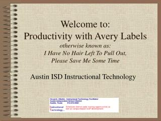 Welcome to: Productivity with Avery Labels otherwise known as: I Have No Hair Left To Pull Out,  Please Save Me Some Tim