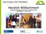 Herzlich Willkommen Landesarbeitsgemeinschaft SCHULEWIRTSCHAFT und MBWJK1 - 26.05.2011