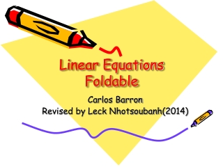 Writing  Graphing Linear Equations