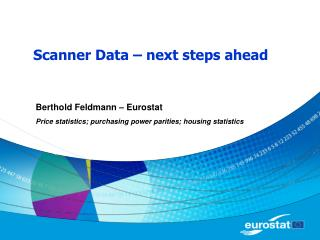 Scanner Data   next steps ahead