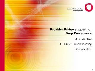 Provider Bridge support for Drop Precedence