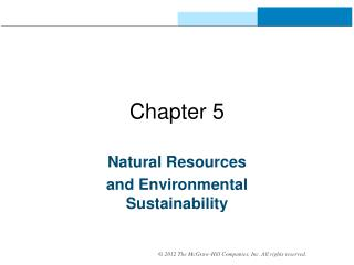 Natural Resources  and Environmental Sustainability