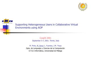 Supporting Heterogeneous Users in Collaborative Virtual Environments using AOP