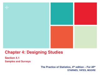The Practice of Statistics, 4th edition   For AP STARNES, YATES, MOORE