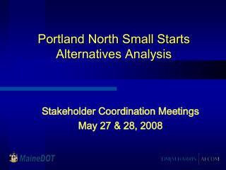 Portland North Small Starts Alternatives Analysis