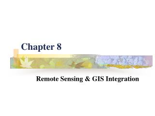 Remote Sensing  GIS Integration